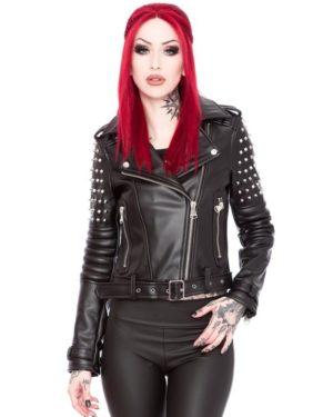 Victoria Poison Baphomet spiked jacket