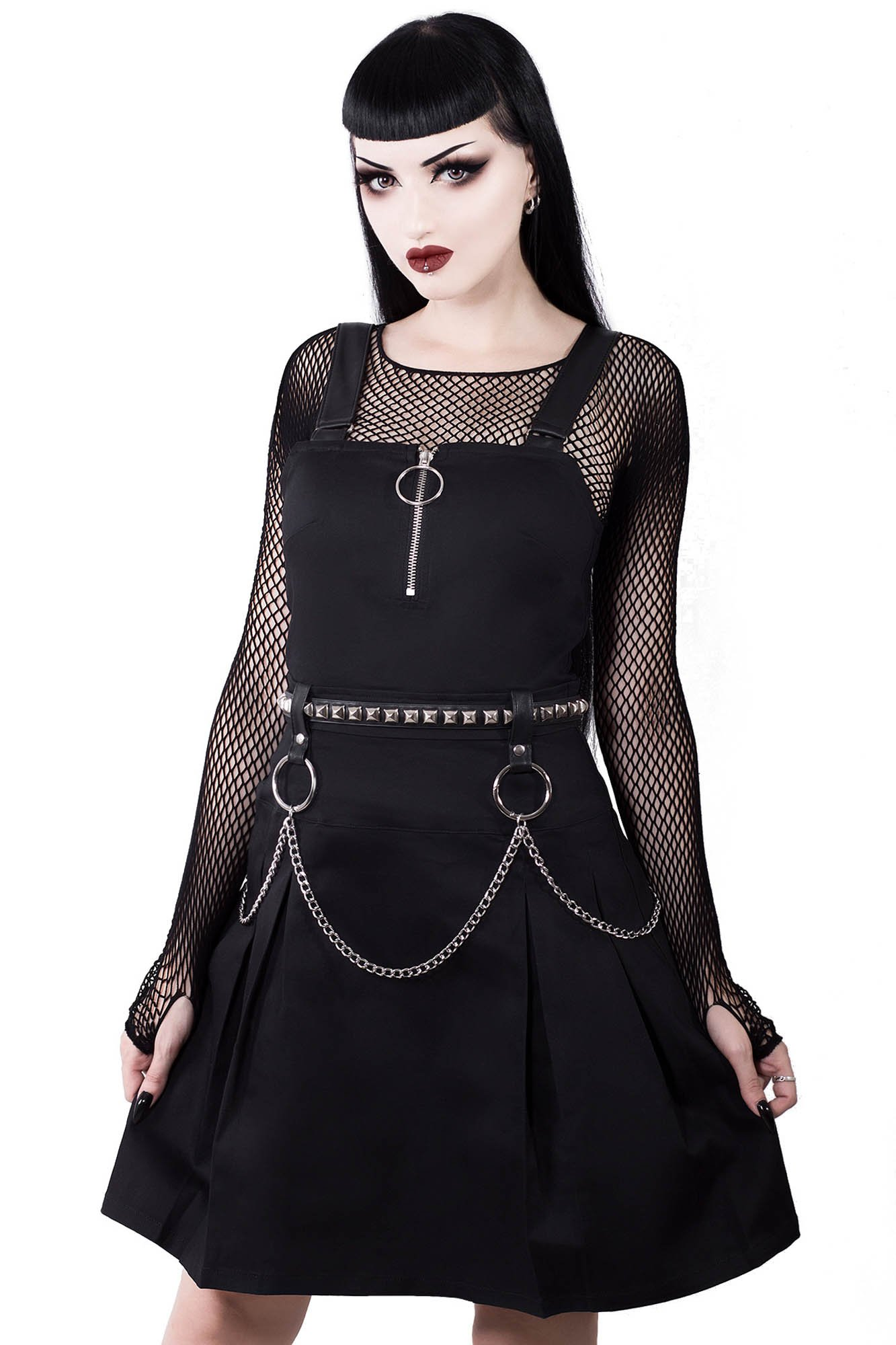 complimentary shipping fine quality sale usa online REGAN PINAFORE DRESS - Killstar