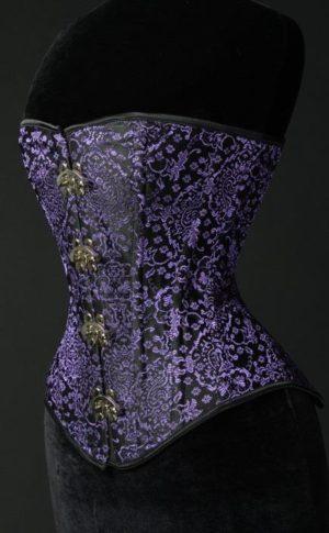 Violet Brocade Corset
