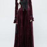 Victorian Stretch Dark Embossing Gothic Dress